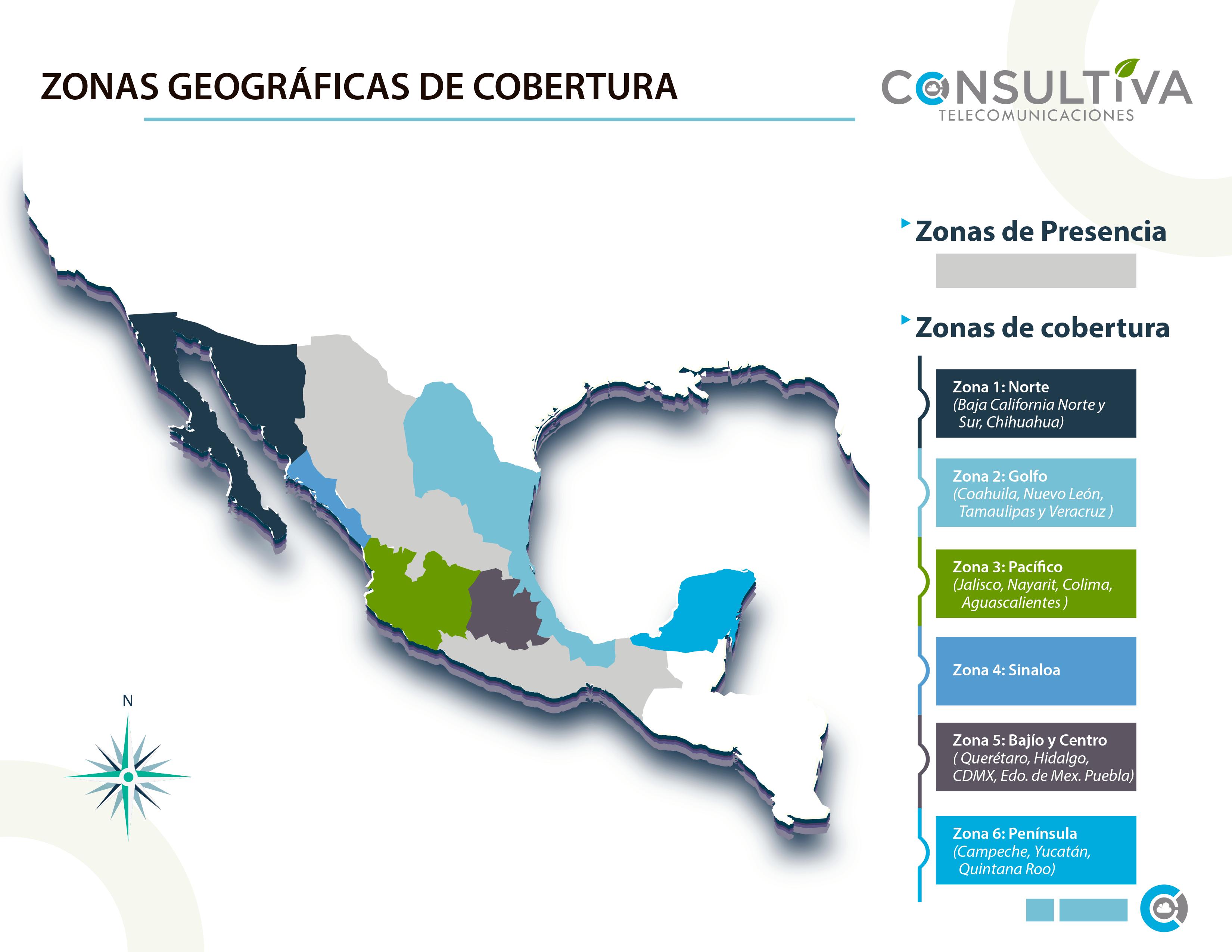 Mapa ubicación de clientes